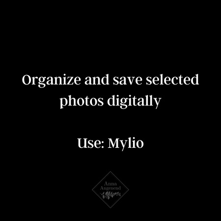 how to organize and save photos